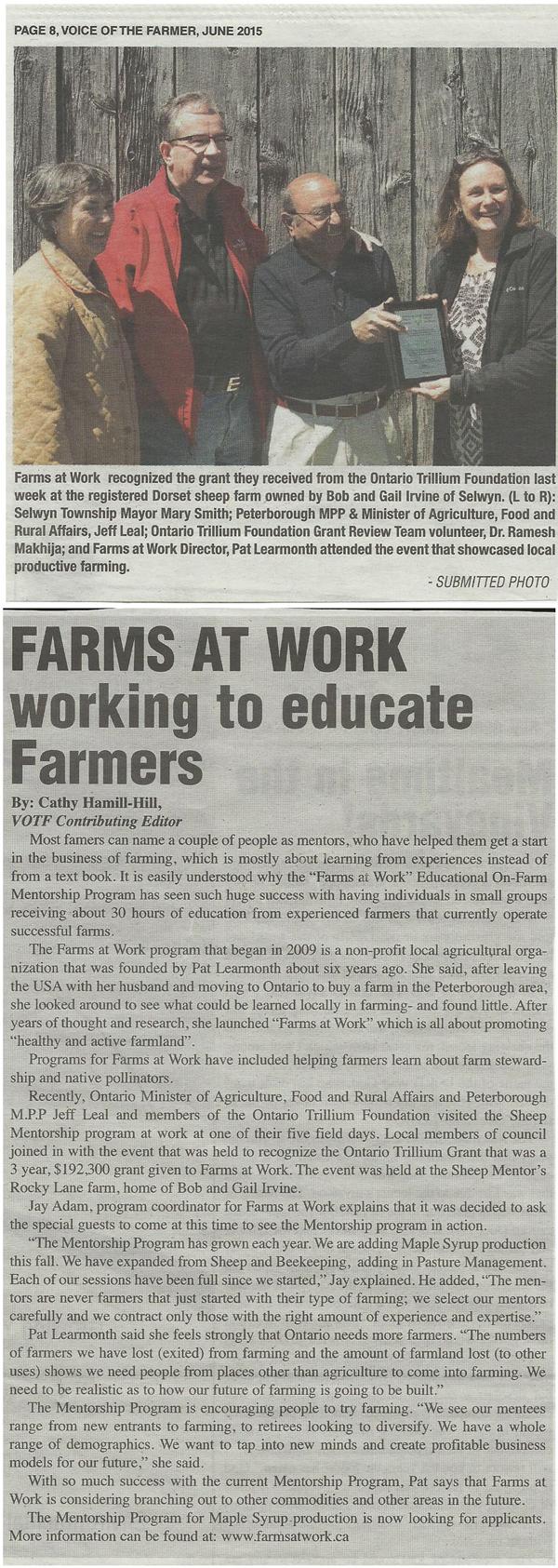 Voice of the Farmer - June 2015